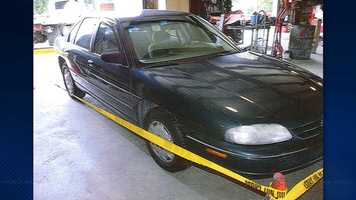 Authorities in Hancock County, Miss., are asking businesses and residents along the Gulf Coast if they have seen this car, a forest green 2001 Chevy Lumina, from June 6 up until Jaren Lockhart's remains washed ashore in Bay St. Louis.
