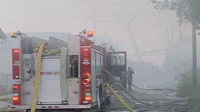 New Orleans firefighters battled a 3-alarm fire in the 9th Ward on Tuesday.