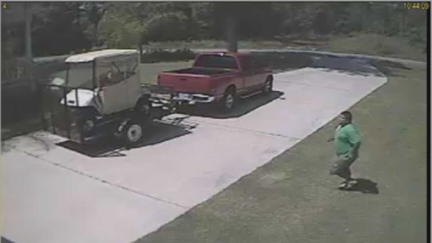Jorge Alberto Munguia-Martinez was caught on surveillance video stealing a golf cart from a home in Lacombe, investigators with the St. Tammany Parish Sheriff's Office said.