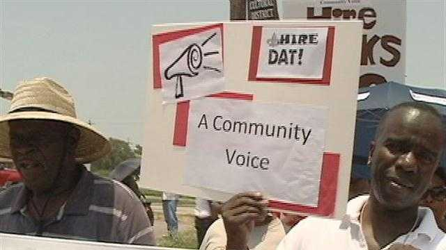 People living in the Ninth Ward are upset about the lack of jobs in the community, just as another part of the city gets ready for an influx of revenue.