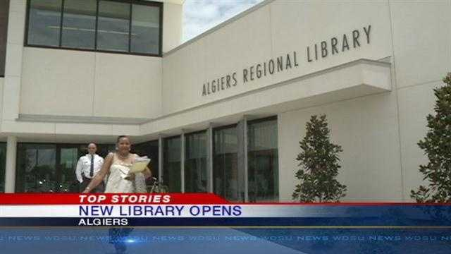 City officials cut the ribbon Wednesday on the new Algiers Regional Branch.