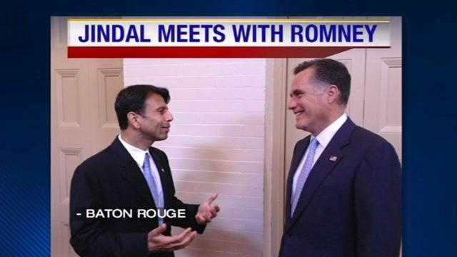 Republican presidential candidate Mitt Romney was in Baton Rouge on Monday.