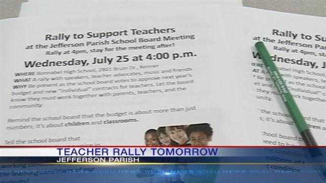 Jefferson Parish teachers still do not have a contract with about two weeks to go from the start of school.