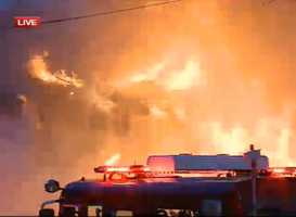 Officials sounded 5 alarms as flames tore through the Hubig factory in the Marigny.