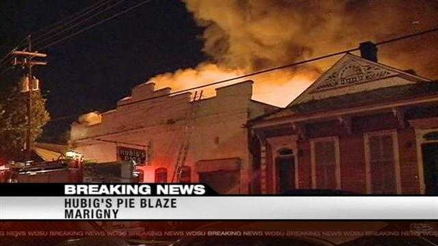 Continuing coverage of the 5-alarm fire at Hubig's Pies in The Marigny.