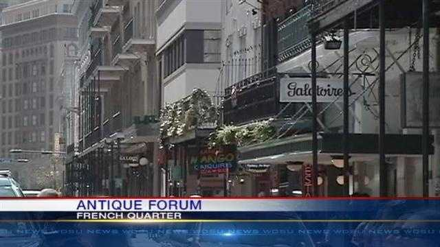 WDSU Reporter Blake Hanson has details about an Antique Forum taking place this weekend in the French Quarter.