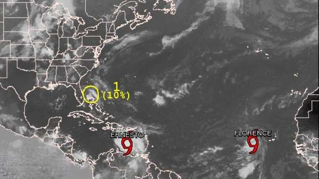 The National Hurricane Center is tracking two tropical storms -- Ernesto and Florence.
