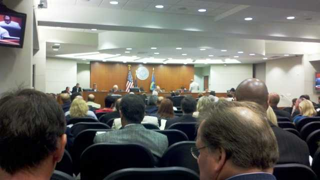 (Aug. 2012) A large crowd filled the chambers as the Jefferson Parish Council discussed matters involving the parish Housing Authority.