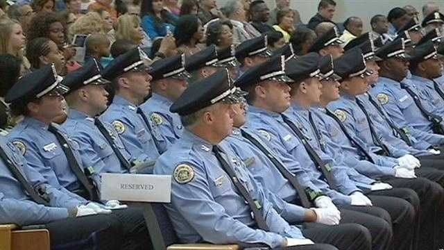 The New Orleans police department added 28 new members today.