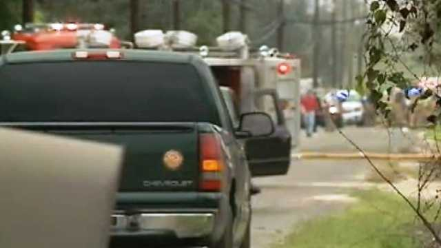 Plaquemines Parish officials evacuated hundreds of homes and closed businesses in a four-block area around Sun Drilling because of concerns centered on a chemical tank.
