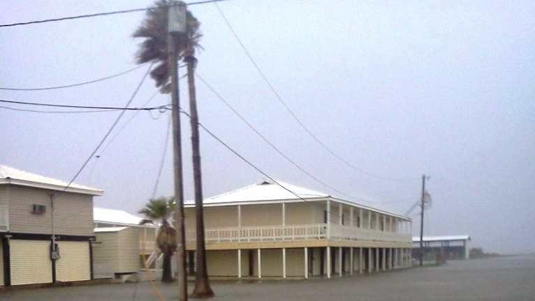 Flooding is being reported in Grand Isle in advance of Isaac.