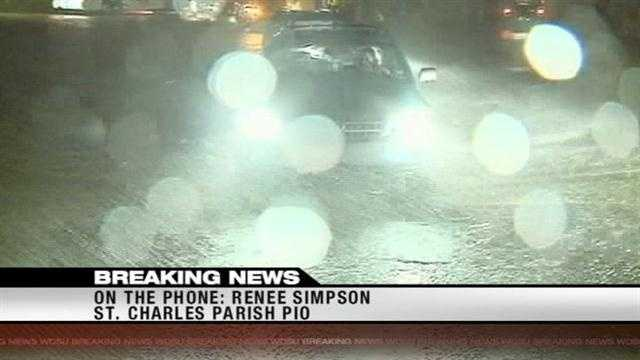 St. Charles Parish Pulic Information Officers Renee Simpson reports on damage in the parish.