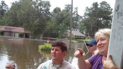 Congressman Steven Palazzo and a representative of Senator Thad Cochran's Office toured the flood affected areas of Pearl River River County.