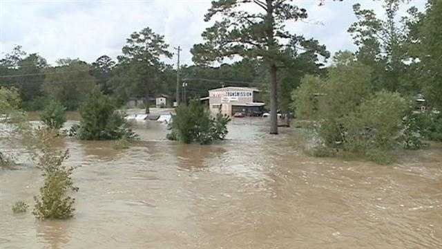 Washington parish is dealing with widespread flooding after Hurricane Isaac.