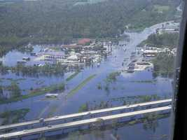 Take an aerial tour of some of the areas hardest hit by Isaac's flooding.