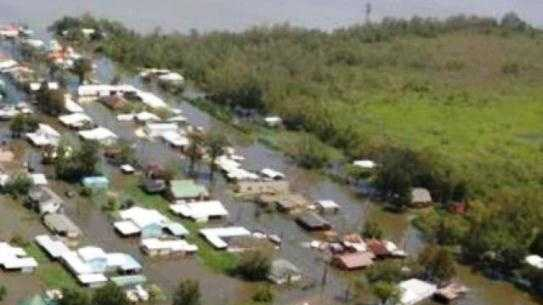 The community of Vacherie in St. John the Baptist Parish remained under water days after Hurricane Isaac passed by.