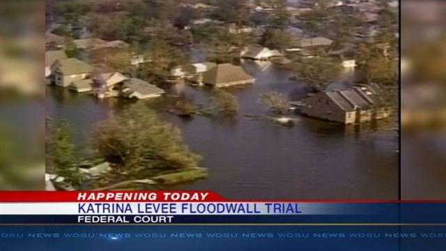 A trial in a federal lawsuit over the levee breaks from Katrina heads to court Wednesday