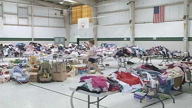 The Sheriff's department says supplies that were meant to go to Hurricane Isaac victims were stolen from a site just outside Braithwaite, in St. Bernard Parish.