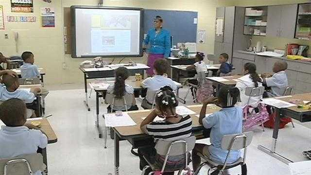 After the storm damaged Lake Pontchartrain Elementary School in Laplace students are now beginning school at six different campuses across the parish.