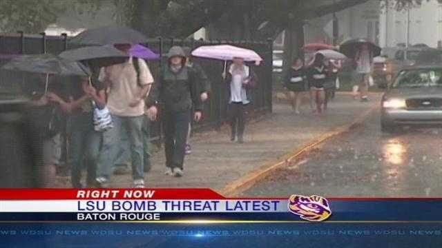Classes resume at LSU after bomb threat Monday.