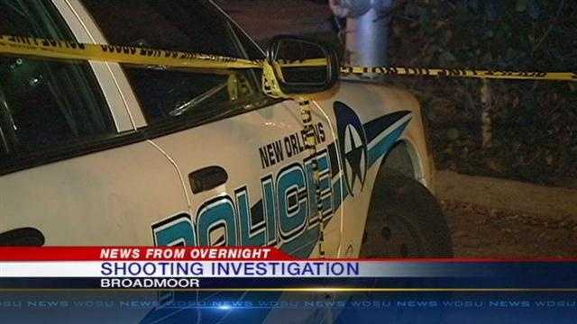New Orleans Police are investigating an overnight shoooting in Broadmoor.