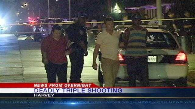 A late night shooting in Harvey leaves a woman dead and puts two men in the hospital.