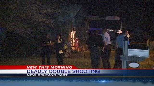 A woman is dead and a man is in the hospital after a shooting in New Orleans East.
