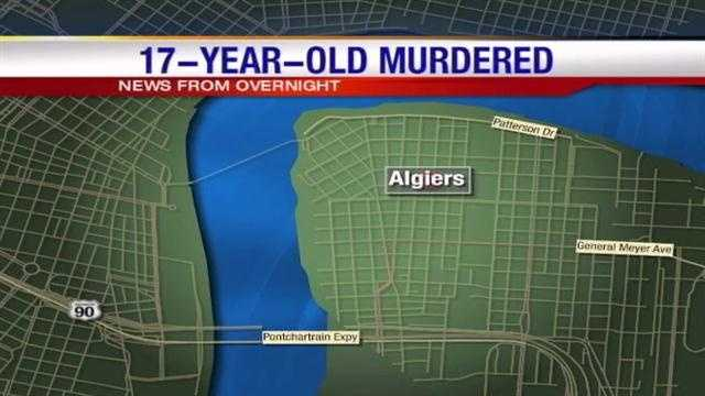 Detectives are investigating the shooting death of a 17-year-old man in Algiers.