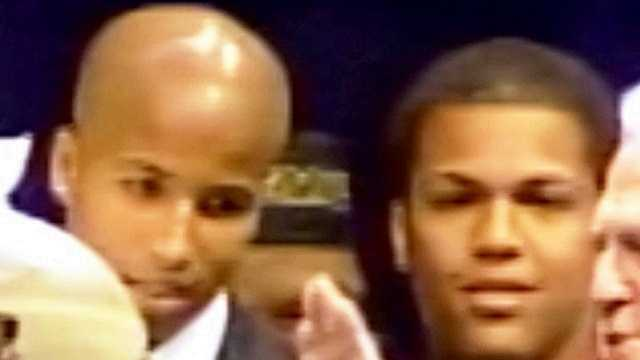 Jarin and Jeremy Nagin are shown in this  image from the inauguration of Mayor Ray Nagin in 2002.