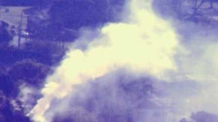 A 2-alarm fire burns in a neighborhood on Algiers Point.