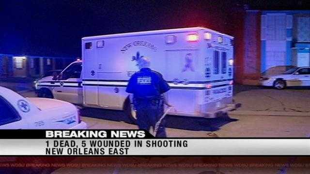 Five Men Shot, One Dead In NOLA East Shooting