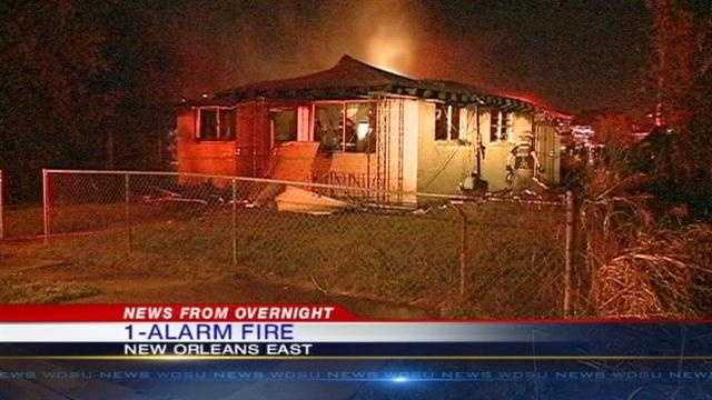 New Orleans firefighters battle an 1-alarm fire early Friday morning.