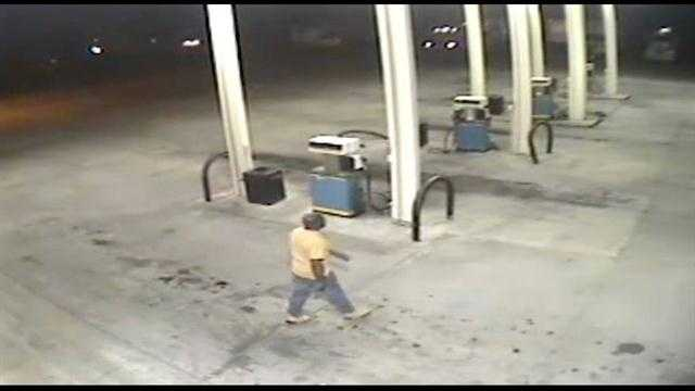 Surveillance Video: Man sought in truck stop trailer theft
