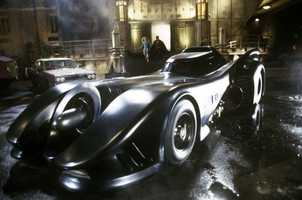 1989, 1992 Batmobile (Batman, Batman Returns): Production designer Anton Furst was inspired by Salt Flat racing vehicles and Stingray cars of the 1950s for his version of the Batmobile. The vehicle can jettison the bodywork to form the Bat-Missle, narrowing the vehicle down to just the cockpit and turbine engine for quick escapes.