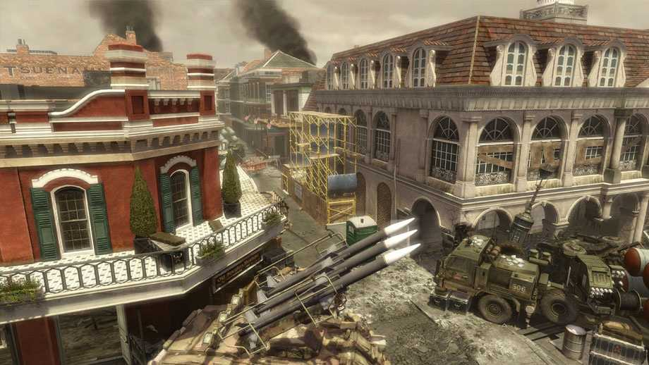 "The downloadable map pack ""Final Assault"" features a battle-ravaged French Quarter in the blockbuster video game franchise ""Call of Duty: Modern Warfare."""