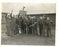 Liberated POWs in Dulag Luft near Wetzlar. (Image courtesy of The National Archives.)