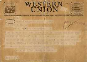 Telegram to the Family of Harry Nixon.