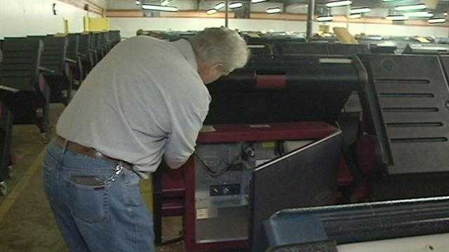 Voting machines were opened up in New Orleans East Friday morning as part of the protocol to double check the machines a few days after the Nov. 6 election day.