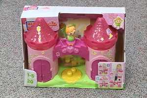 Lil Princess 3 Story Enchanted Castle for ages 0-2 years old.  The toy comes with big block pieces and little ones can build their very own fairy tale castle. Click here for more info.