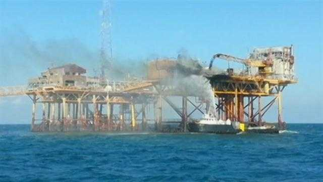 Fire Out At Gulf Oil Platform