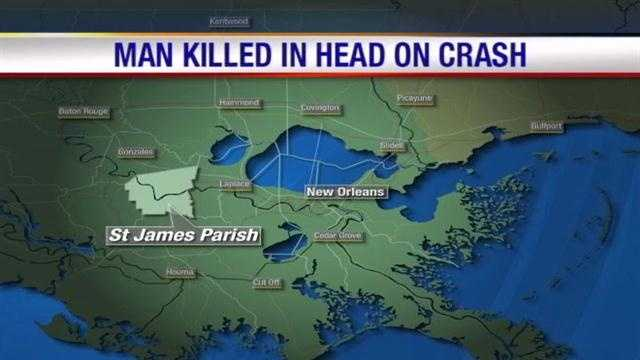 A 61-year-old Thibodaux man dies in a crash with a Freightliner tractor-trailer near the St. James-Ascension Parish line.