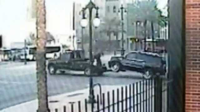 New Orleans police said a thief needed only four minutes to hook up and haul away a 2007 Cadillac SUV.
