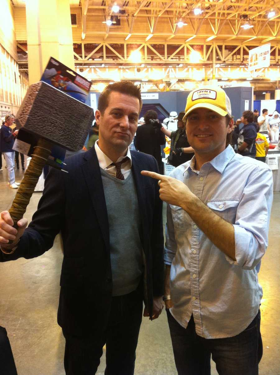 WDSU sports anchor Fletcher Mackel and his twin brother Travers Mackel attended Comic Con. Fletcher bought the mighty hammer Mjölnir, which belongs to Thor from the Marvel Comics' series.