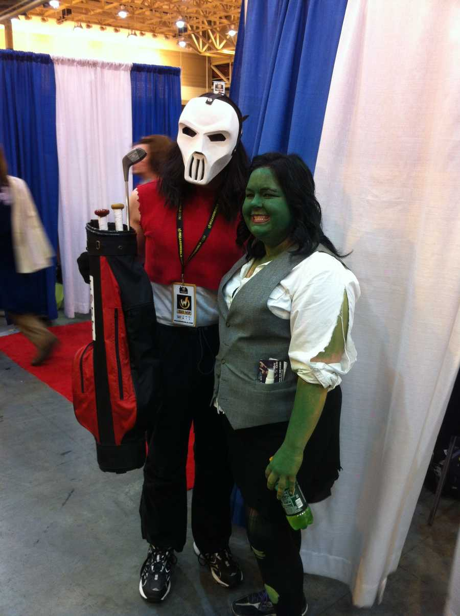 Casey Jones (left) from the Teenage Mutant Ninja Turtles series and She-Hulk (Right)from Marvel Comics series of the same name.