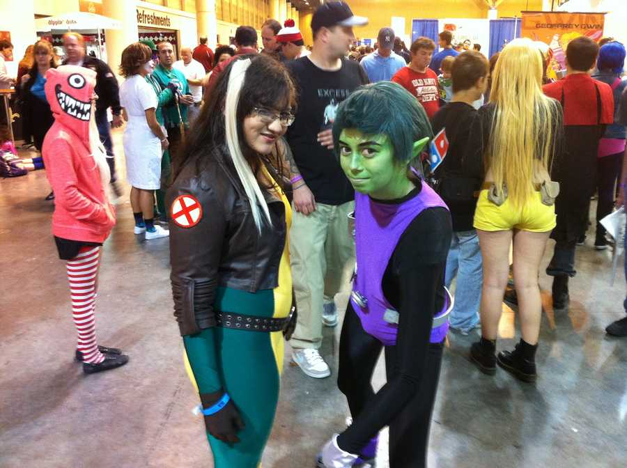 More fans found dressing up as characters from the X-Men universe.