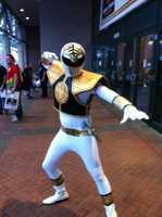 The White Ranger from the Power Rangers series.