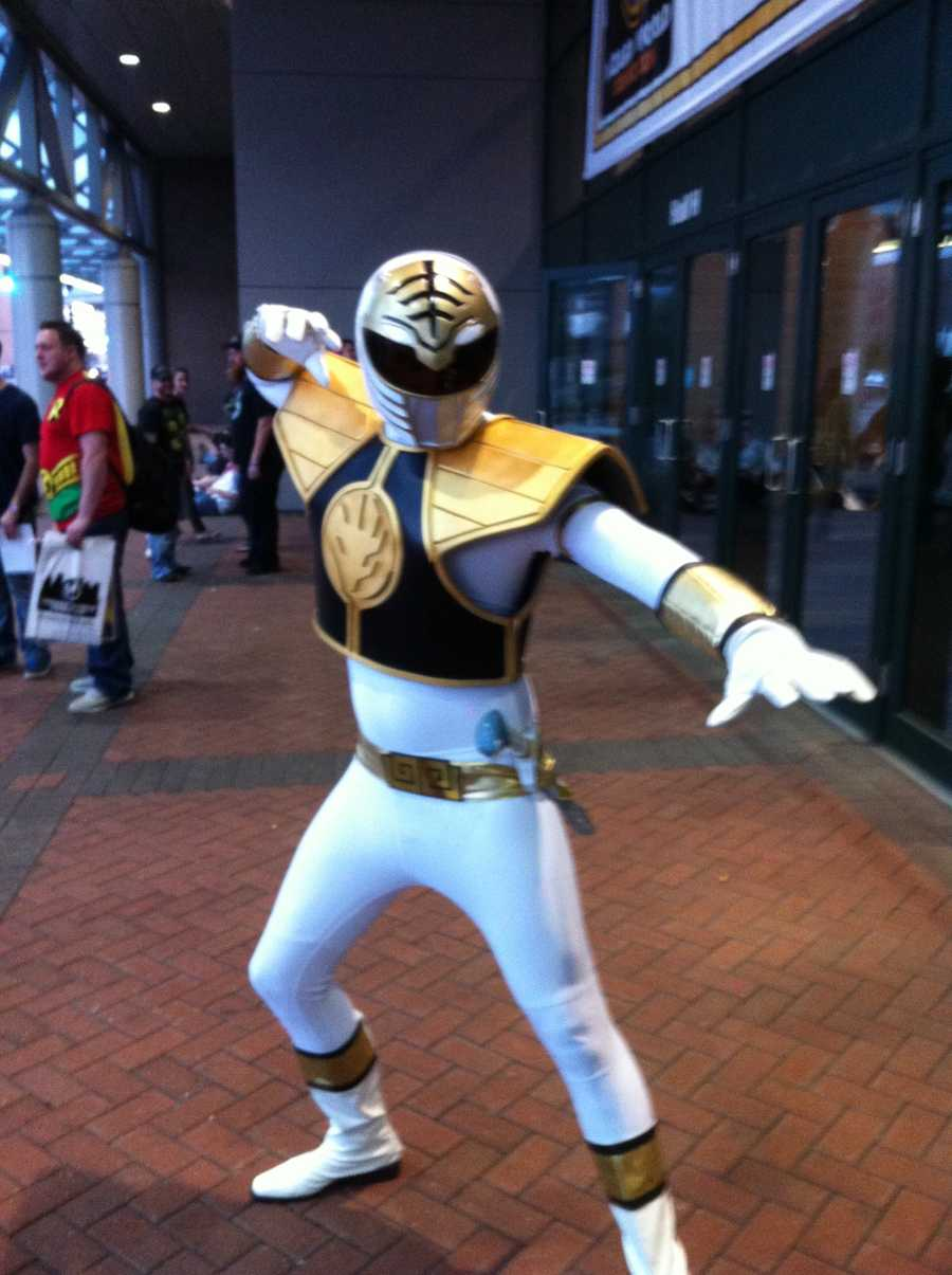 The White Ranger from the Power Rangers series.