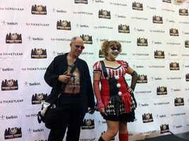 Spider from the Transmetropolitan series (left) and Harley Quinn (Right) from the Batman series. (2012 Wizard World New Orleans Comic Con)