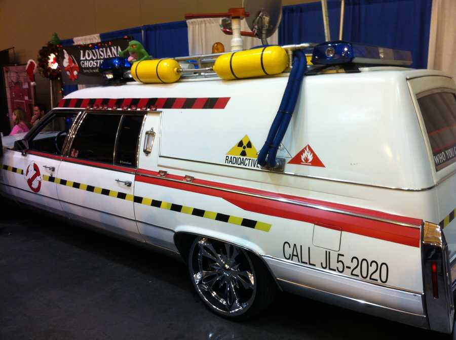 Ecto-1 from the Ghostbusters films. The organization Louisiana Ghostbusters use the recognition to raise money for various charities.