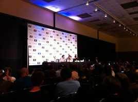 """Jon Bernthal, Michael Rooker, and Norman Reedus appear for a panel on """"The Walking Dead."""""""